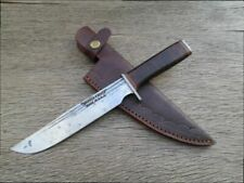 Custom Vintage Hammer Forged Carbon Steel Butcher-style Hunting Knife - SHARP!