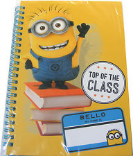 CHILDRENS / KIDS / BOYS / GIRLS SMALL A5 MINIONS SPIRAL BOUND NOTEBOOK NOTE BOOK