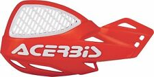 ACERBIS VENTED UNIKO MX HAND GUARD PROTECTOR SHIELD UNIVERSAL FIT RED MOUNTS CRF