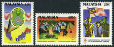 Malaysia 395-397,MNH.7th Natl.Scout Jamboree.Map,badges;Salute,flag;Camping,1989