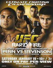BJ Penn Signed UFC 80 8.5x11 Poster Photo Picture 8x10 Autograph B.J. 2008 Fight