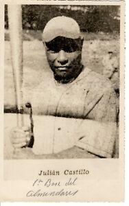 1910s Vintage Repro Baseball Sepia Photo Cuban HOF& NL Star JULIAN CASTILLO