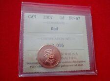 2007 Canada Specimen 1-cent  ICCS SP-67 Red