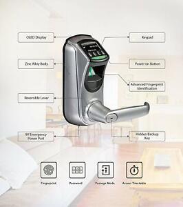 Smart Fingerprint Door Lock with Unlocking Records Tracking User Data Backup