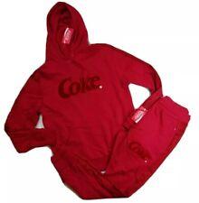 Coca Cola Mens 100%authentic 2p set Hoodie & sweat pants size Large red