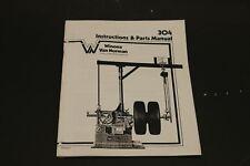 Winona Van Norman Rels 304 Heavy Duty Brake Lathe Operating Manual With Parts Id
