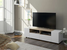 Mueble multimedia para TV en color blanco artik y roble canadian 138 cm