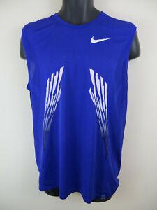 Nike FitDry Vest Basketball Tennis Sports Training Purple Mens XL 45/47