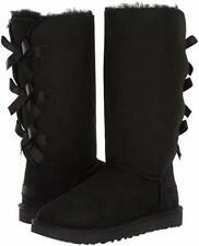 Женские туфли Ugg Bailey бант высокий II сапоги из овчины 1016434 черный