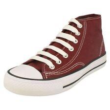 Chaussures rouges à lacets en toile pour garçon de 2 à 16 ans