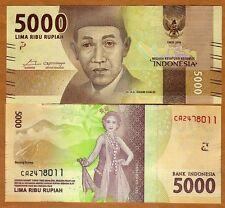 Indonesia, 5000 Rupiah, 2016, P-New, Redesigned, UNC