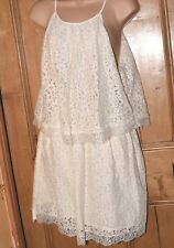 NWT MNG cream lace dress size 10 ref 749