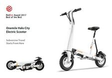 OneMile Halo City Foldable Electric Scooter (Brand New, White, 35km range)