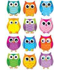 CD 120107 Colorful Owls Cut Outs Classroom Decorations Teacher Supplies