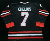 Chris Chelios Signed Autograph Black Jersey JSA COA Blackhawks Legend