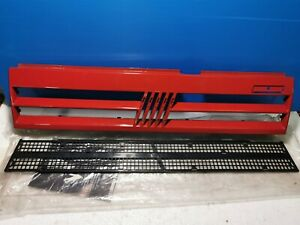Grill Grille Panel Front Fiat Uno Turbo Red New Original