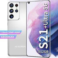 "Smartphone, S21Ultra, RAM 8 go, ROM 7.3 go, 256 "", 24 + 48MP, téléphone intellig"