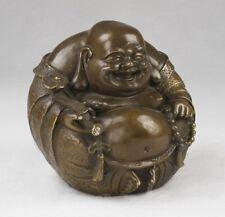 Buddha Figur Budai Messing Metallfigur China Buddhismus Deko Dekoration