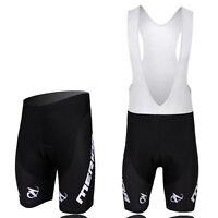 Black Merida Men's Biking Cycling Bib Shorts Padded Bike Bicycle Shorts S-5XL