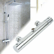 Wall Mounted Thermostatic Control Faucet Bar Mixer Tap Bathroom Shower Valve