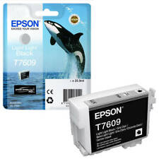 Epson T7609 (25.9ml) Light Light Black Ink Cartridge for SureColor SC-P600 NEW