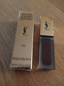 YSL Tatouage Couture The Metallics Matte Stain 6ml - Magnetic Prune Temper 105
