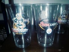 Jack Ham #59 Pittsburgh Steelers COORS LIGHT Beer Glass free shipping