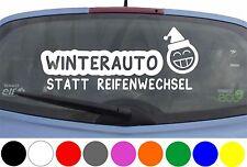 WD Autoaufkleber XXL WINTERAUTO statt Reifenwechsel Winter Sticker Heckscheibe