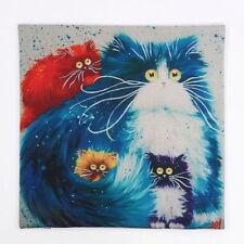 "Cushion Cover Sofa Pillow Case ""CUTE CAT #2"" 45cm x 45cm Beautiful Gift Idea NEW"