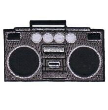 Boombox Tape Deck 80's 90's Applique Patch - Jambox, Radio Speakers (Iron on)