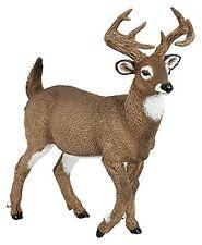 Papo 53021 Whitetail Deer Buck Model Wild Animal Figurine Replica Toy - NIP