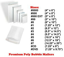 Poly Bubble Mailers Padded Envelope Protective Packaging Pouch Bags Shipping #1