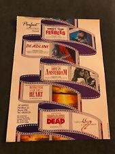 1989 VINTAGE 10X13 MOVIE PRINT Ad FOR PETER JACKSON MEET THE FEEBLES+BRAINDEAD