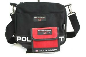 Vintage Polo Sport Ralph Lauren Crossbody Bag Logo Spell Out with Wallet