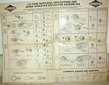 Briggs & Stratton Muffler and 2 Gasket Wall Charts, 20 x 26""