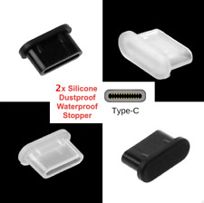 2x USB Type-C Dust Plug Stopper Cover Silicone for Lenovo Legion Phone Duel 2