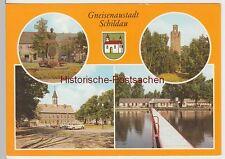 (99204) AK Schildau, Mehrbildkarte, 1989