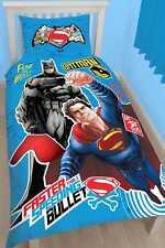 Dc Comics motivo Superman Batman V Belltex-set Copripiumino (i3h)