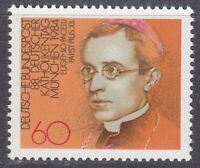 Germany 1984 MNH Mi 1220 Sc 1423 Pope Pius XII / Catholic Church **
