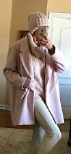 NWT Beautiful Pink Oversized Wool Blend Coat Size XXL With Hat And Gloves $250
