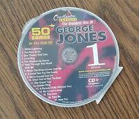GEORGE JONES GREATEST HITS VOL 1 COUNTRY KARAOKE CDG CHARTBUSTER 5074-01 CD+G