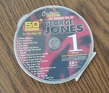 GEORGE JONES GREATEST HITS 1 COUNTRY KARAOKE CDG CHARTBUSTER 5074-01 17 SONGS