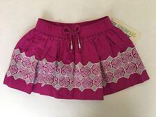 NEW Genuine Kids From Oshkosh Girls Pink Skirt W Embroidery - Size 6X