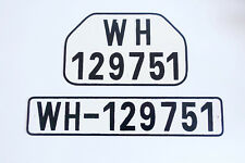 GERMAN ARMY WWII WW2 repro car vehicle truck license number tag plates WH-129751