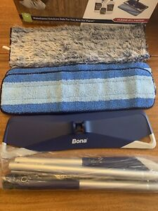 Bona Multi-Surface Floor Premium Microfiber Mop NEW With 3 Pads