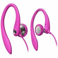 Philips SHS3200PK/37 Ultra Comfortable Gym Flexible Earhook Headphones, Pink