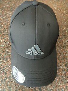 Adidas Men's Decision II Hat Black / Gray Onix Adjust Strapback NWT Cap OSFM