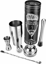 Cocktail Shaker Bar Set Accessories Stainless Steel Tool Built-in Bartender Stra