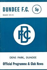Football Programme>DUNDEE v QUEEN OF THE SOUTH Feb 1972