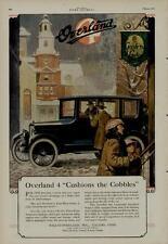 "1920 WILLYS OVERLAND CAR AUTO AD / FOUR DOOR SEDAN - ""CUSHIONS THE COBBLES"""